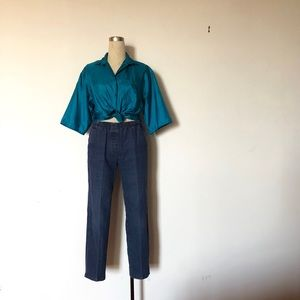 Alia - Pull On Denim Mom Jeans